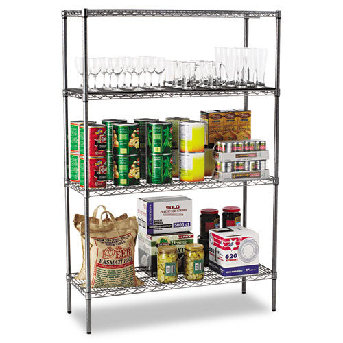 Alera Black Anthracite Wire Shelving Kit ALESW504818BA,  (UPC:042167924379)