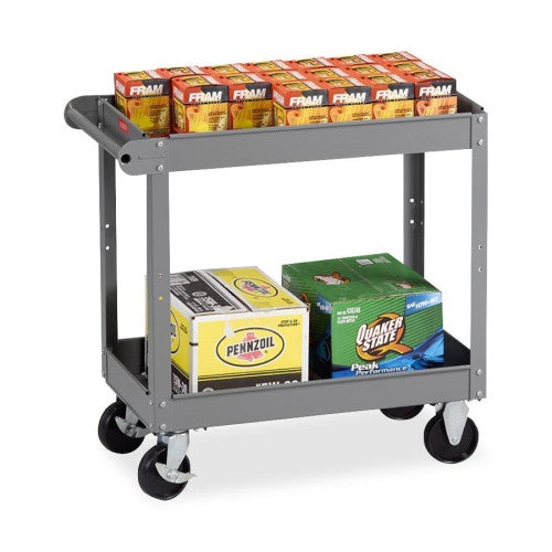 Tennsco Two Shelf Service Cart TNNSC1630MGY, Gray (UPC:447671041879)