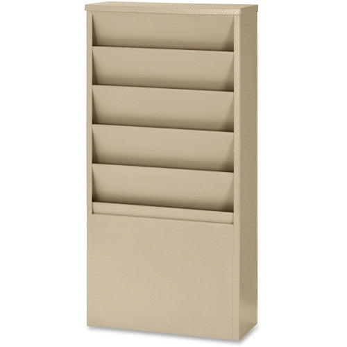 Buddy 5 Pockets Literature Display Rack BDY8116, Putty (UPC:025719081164)