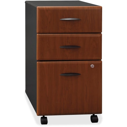 Bush Series A 3 Drawer Mobile Pedestal - Assembled BSHWC94453SU, Cherry (UPC:042976944933) ; Image 1
