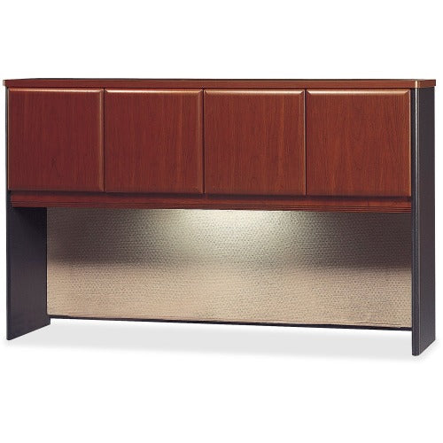 Bush Business Furniture Series A 60W Hutch in Dark Cherry,Slate,Thermofused Laminate
