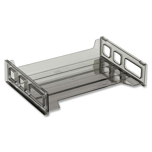 Officemate Side Loading Stackable Desk Tray OIC21001, Gray (UPC:042491210018)