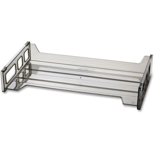 Officemate Side Loading Stackable Desk Tray OIC21101, Gray (UPC:042491211015)