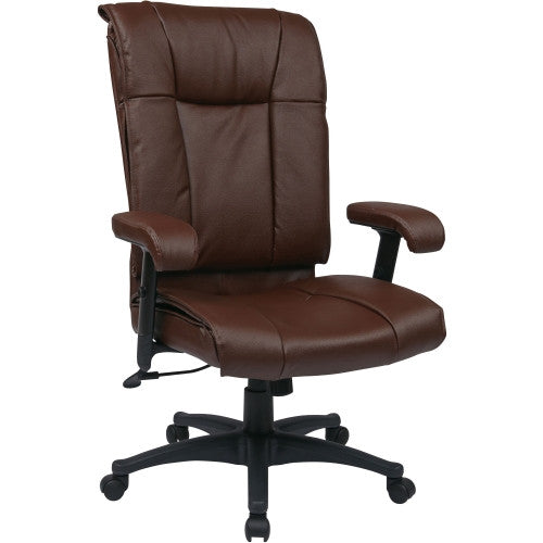 Office Star EX9382 Deluxe Executive High Back Leather Chair OSPEX93824, Burgundy (UPC:090234049326)