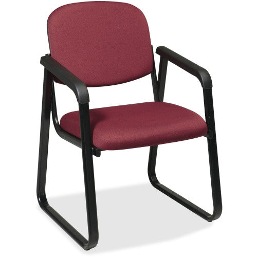 Office Star V4410 Deluxe Sled Base Arm Chair OSPV441074, Purple (UPC:090234461388)
