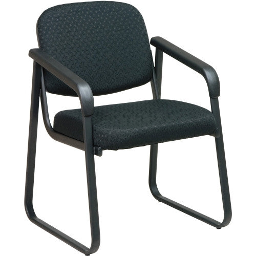 Office Star V4410 Deluxe Sled Base Arm Chair OSPV441080, Black (UPC:090234720911)