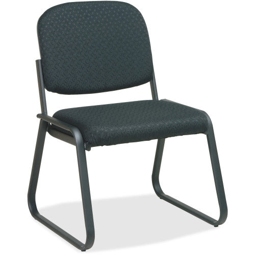 Office Star V4420 Deluxe Sled Base Armless Chair OSPV442080, Black (UPC:090234427643)