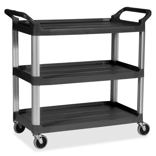 Rubbermaid 3-Shelf Mobile Utility Cart RCP409100BK, Black (UPC:086876148947)