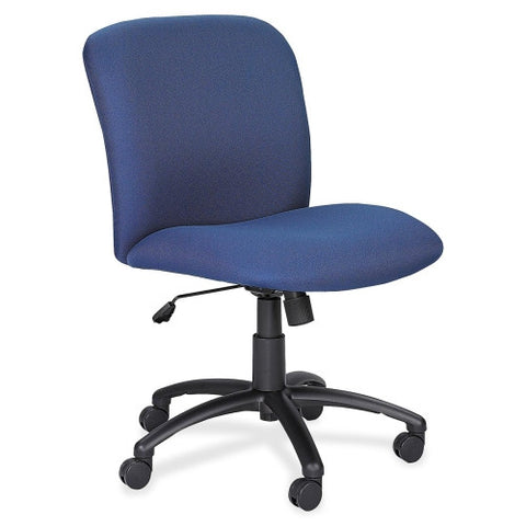 Safco Big & Tall Executive Mid-Back Chair SAF3491BU, Blue (UPC:073555349153)