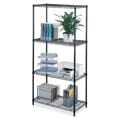 Safco Industrial Wire Shelving SAF5285BL, Black (UPC:073555528527)