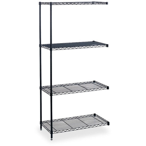 Safco Industrial Wire Shelving Add-On Unit SAF5286BL, Black (UPC:073555528626)