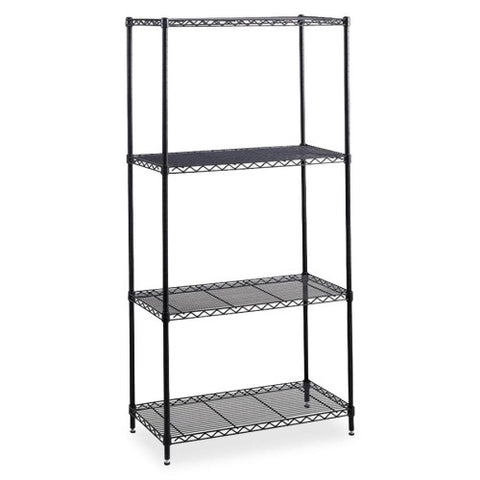 Safco Industrial Wire Shelving SAF5288BL, Black (UPC:073555528824)