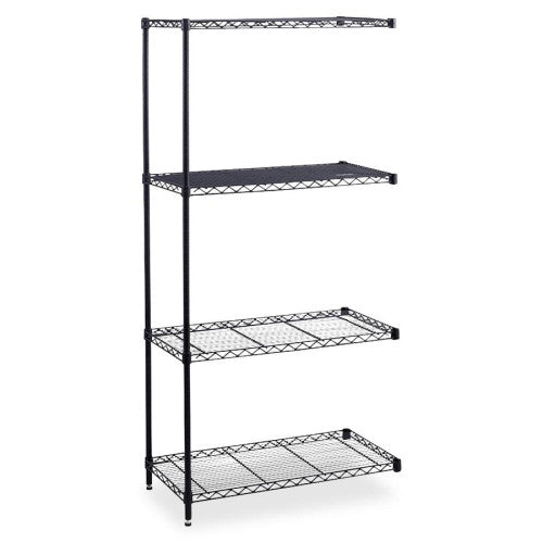Safco Industrial Wire Shelving Add-On Unit SAF5289BL, Black (UPC:073555528923)