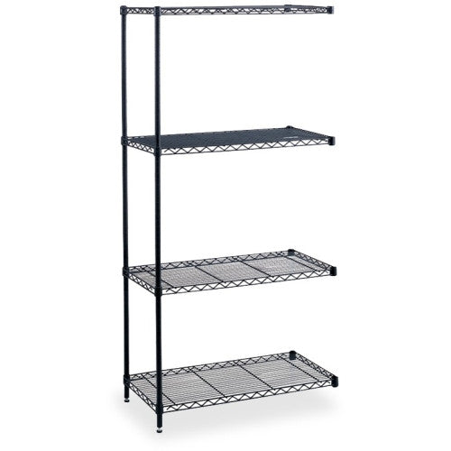 Safco Industrial Wire Shelving Add-On Unit SAF5292BL, Black (UPC:073555529227)