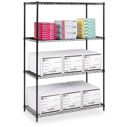 Safco Industrial Wire Shelving SAF5294BL, Black (UPC:073555529425)