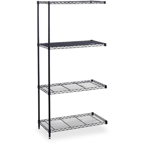 Safco Industrial Wire Shelving Add-On Unit SAF5295BL, Black (UPC:073555529524)