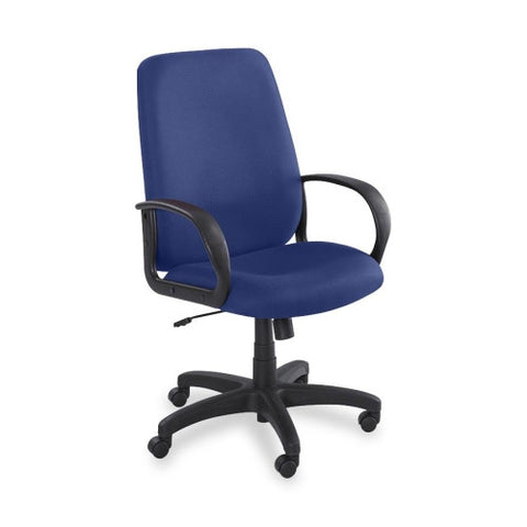 Safco Poise Collection Executive High-Back Chair SAF6300BU, Blue (UPC:073555630053)