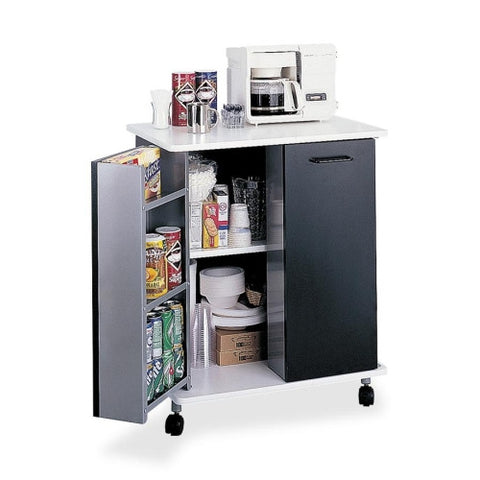 Safco Mobile Refreshment Stand SAF8963BL, Black (UPC:073555896329)