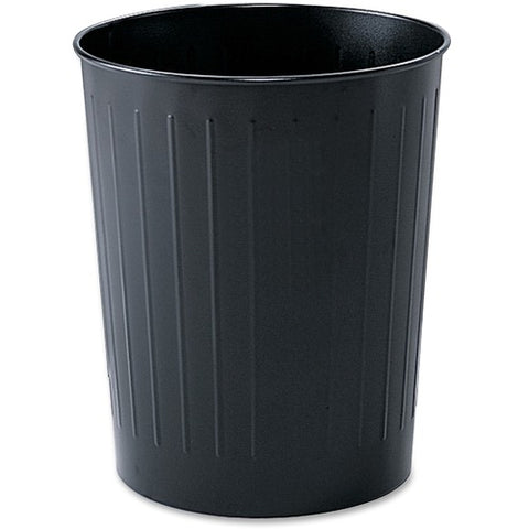 Safco Products Round Wastebasket, 23-1/2 Qt. (Qty. 6) 9604BL(Image 3)