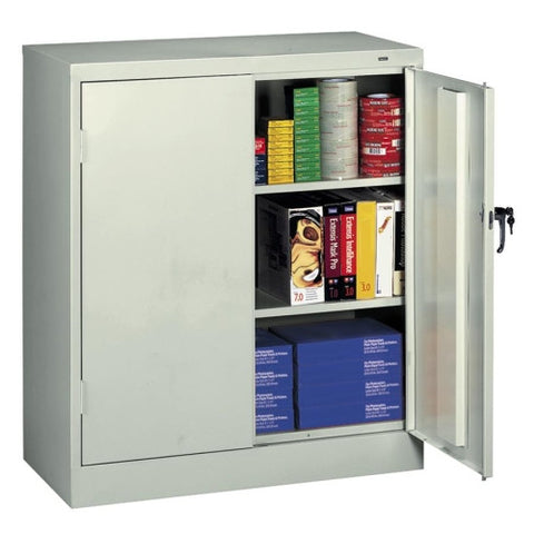 Tennsco Counter-High Storage Cabinet TNN4218LGY, Gray (UPC:447671099917)
