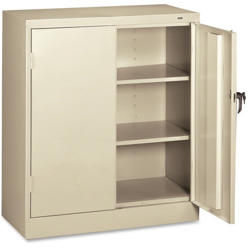 Tennsco Counter-High Storage Cabinet TNN4218PY, Putty (UPC:447671027255)