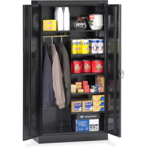 Tennsco Combination Wardrobe/Storage Cabinet TNN7214BK, Black (UPC:447671066797)