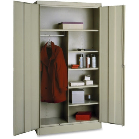 Tennsco Combination Wardrobe/Storage Cabinet TNN7214PY, Putty (UPC:447671113903)