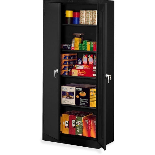 Tennsco Full-Height Deluxe Storage Cabinet TNN7824BK, Black (UPC:447671011933)