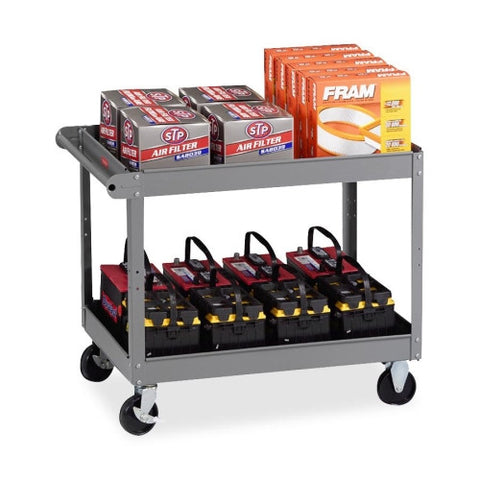Tennsco Two Shelf Service Cart TNNSC2436MGY, Gray (UPC:047671041949)