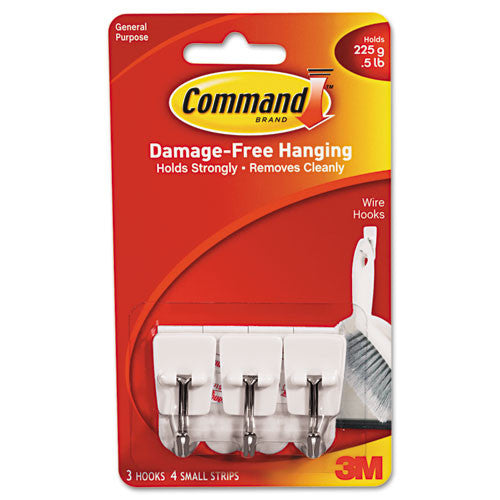 Command Utensil Small Wire Hook ; (051131866935); Color:White