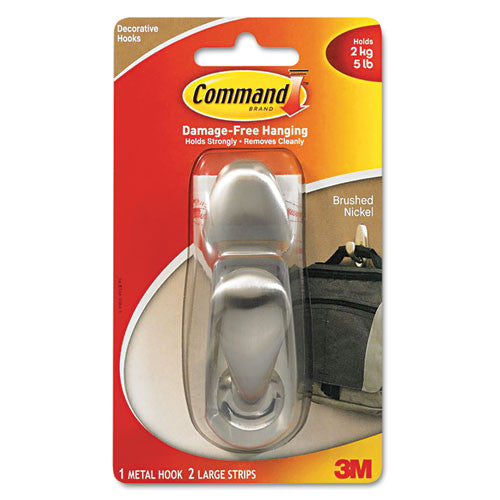 Command Forever Classic Hook ; (051131939660); Color:Nickel