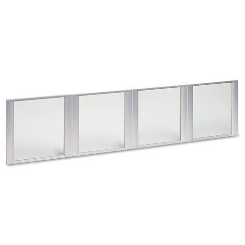"Alera Glass Door Set With Silver Frame For 72"" Wide Hutch ; UPC: 42167302498"