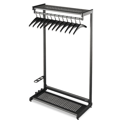 Quartet Two-Shelf Garment Rack ; (034138202241); Color:Black