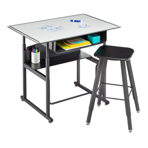 "Safco Products AlphaBetter Adjustable-Height Stand-Up Desk, 36 x 24"" 1209DE Image 5"
