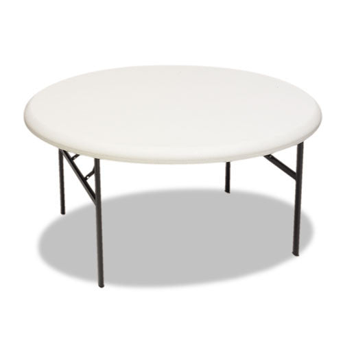 Iceberg IndestrucTable TOO 1200 Series Round Folding Table ICE65263, Gray (UPC:674785652633)