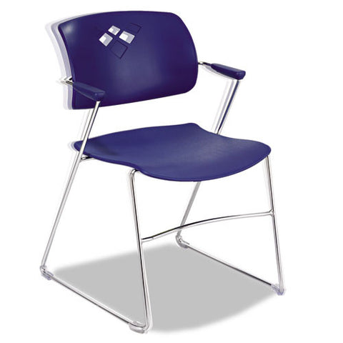 Safco Veer Flex Back Stack Chair with Arm SAF4286BU, Blue (UPC:073555428681)