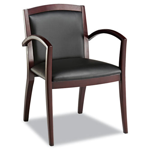 Alera Reception Lounge 500 Series Arch Back Solid Wood Chair ALERL5219M,  (UPC:042167380953)
