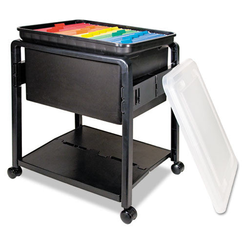 Advantus Folding Mobile Filing Cart AVT55758, Black (UPC:024591557583)