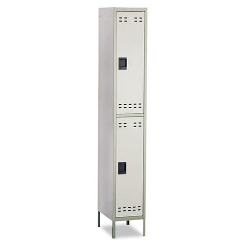 Safco Double-Tier Two-tone Locker with legs SAF5523GR, Gray (UPC:073555552300)