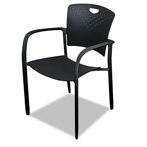 MooreCo Oui Stacking Chair BLT34718, Black (UPC:717641347189)
