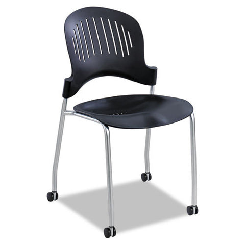 Safco Zippi Plastic Stack Chair (Qty 2) SAF3385BL, Black (UPC:073555338522)