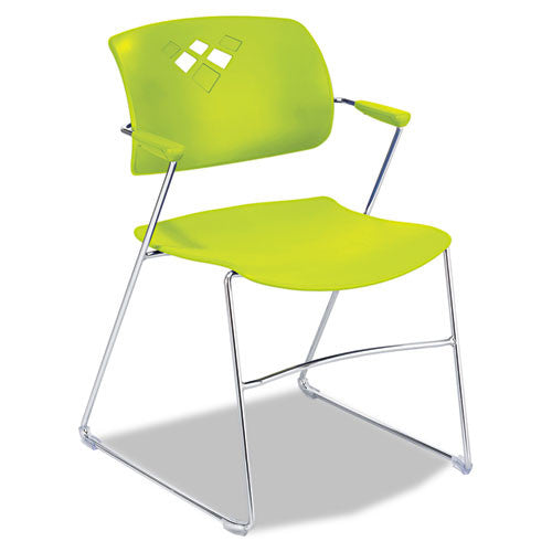Safco Veer Flex Back Stack Chair with Arm SAF4286GS, Green (UPC:073555428674)