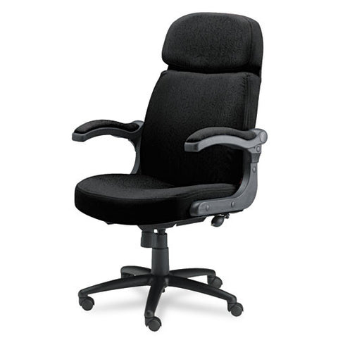 Mayline Comfort Big & Tall 6446AG Executive Chair with Pivot Arms MLN6446AG2113, Black (UPC:760771883317)