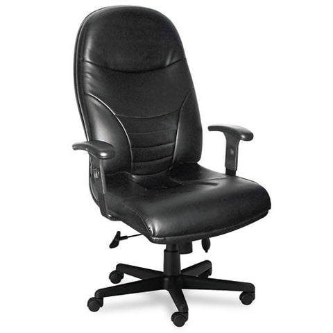 Mayline Comfort Series Executive High-Back Chair MLN9413AGBLT, Black (UPC:760771839451)