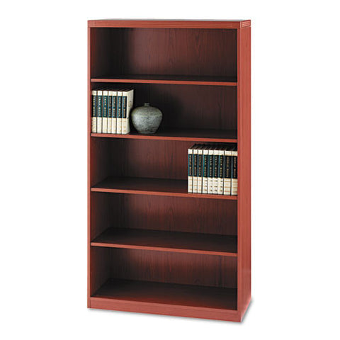 Mayline Aberdeen 5-Shelf Bookcase MLNAB5S36LCR, Cherry (UPC:760771869878)