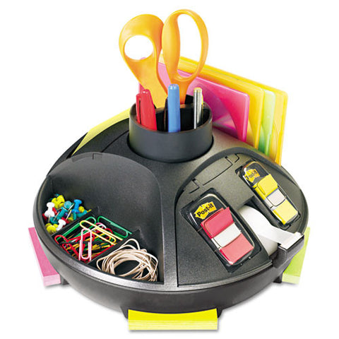 3M Post-it Rotary Desktop Organizer MMMC91, Black (UPC:021200727429)