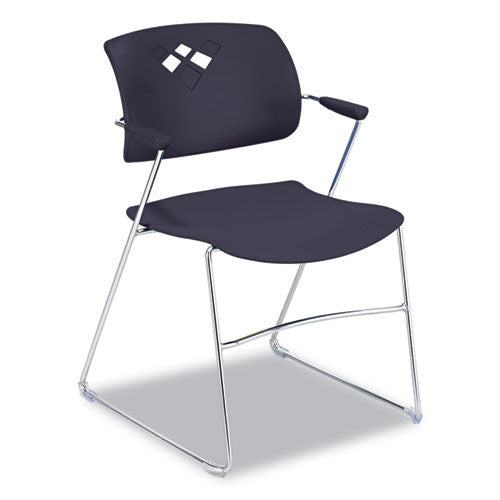 Safco Veer Flex Back Stack Chair with Arm SAF4286BL, Black (UPC:073555428629)