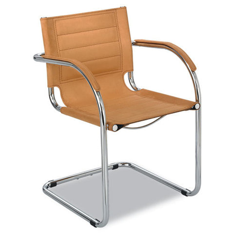 Safco Flaunt Guest Chair with Arm SAF3457CM, Brown (UPC:073555345766)