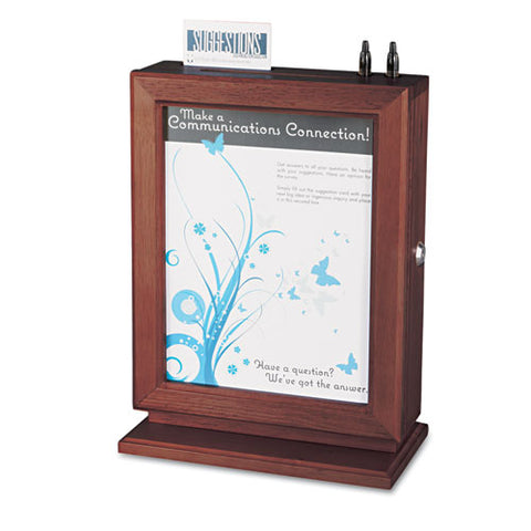 Safco Products Personalizable Wood Suggestion Box 4236MH(Image 1)