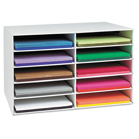 Pacon Construction Paper Storage Unit PAC001316, White (UPC:045173013167)